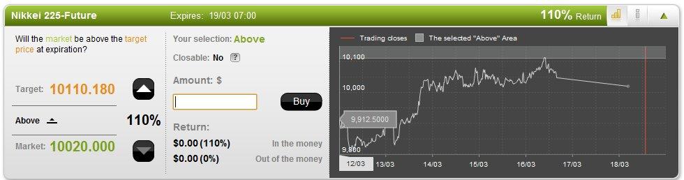 Option Fair Trading Screen