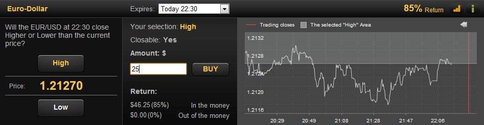 24option Trade Screen