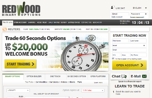 Redwood binary options trading