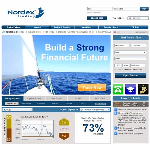 Nordex Trading Home Page