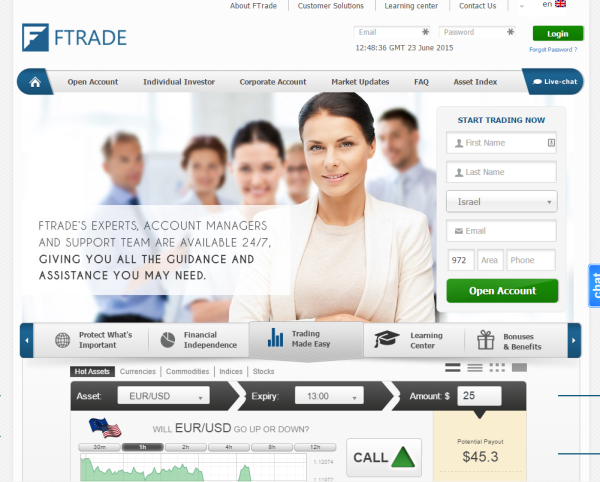 ftrade homepage