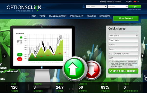 optionsclick homepage