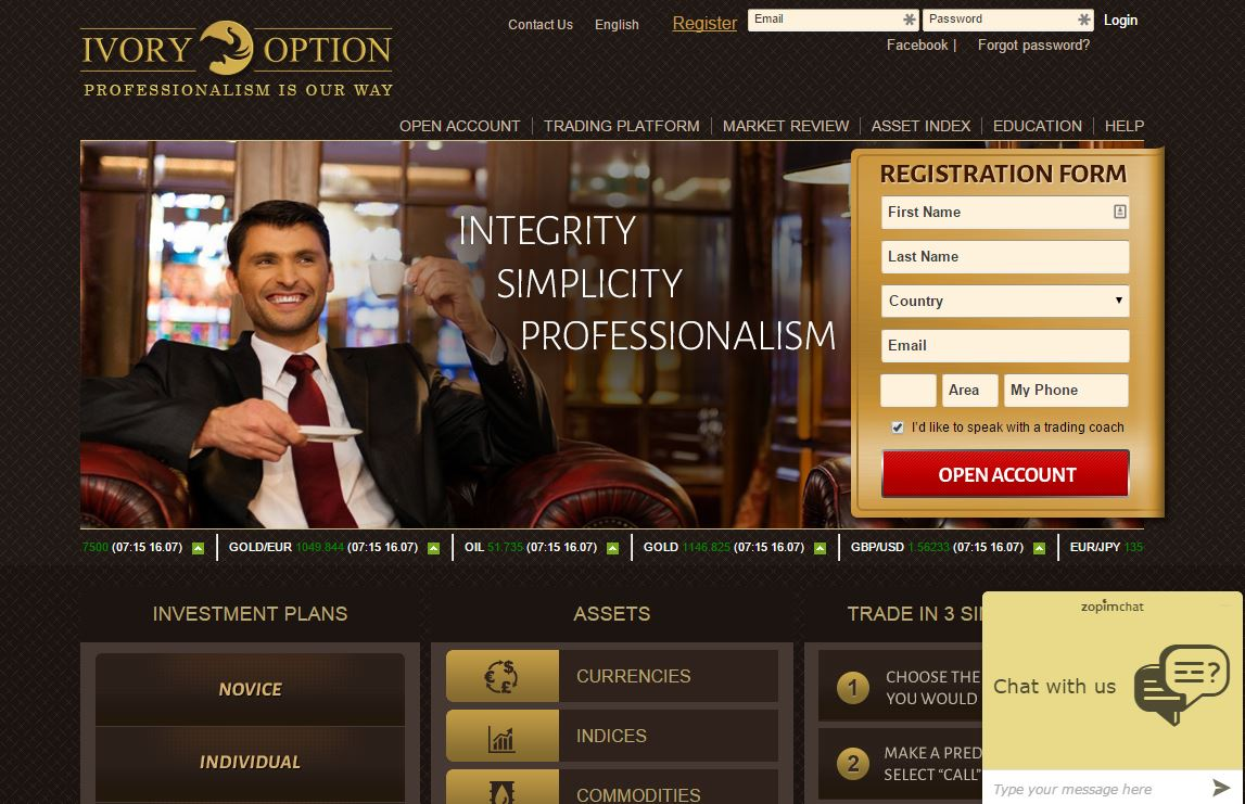 ivoryoptions homepage