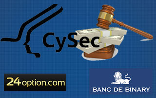 cysec fines BDB and 24option