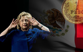 Hillary Clinton Coughs And The Mexican Peso Plunges